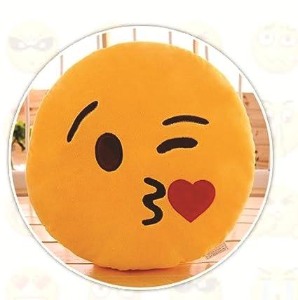 buy skylofts plush romantic flying kiss emoji smiley pillow cushion