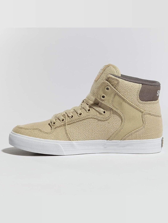 Supra Vaider Skate Shoe B074KHZXPP 9.5 M US|Mojave/Dk Grey-white