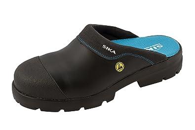 Sika - Chaussures De Protection Homme Noir Noir En Cuir, Couleur Noir, Taille 35