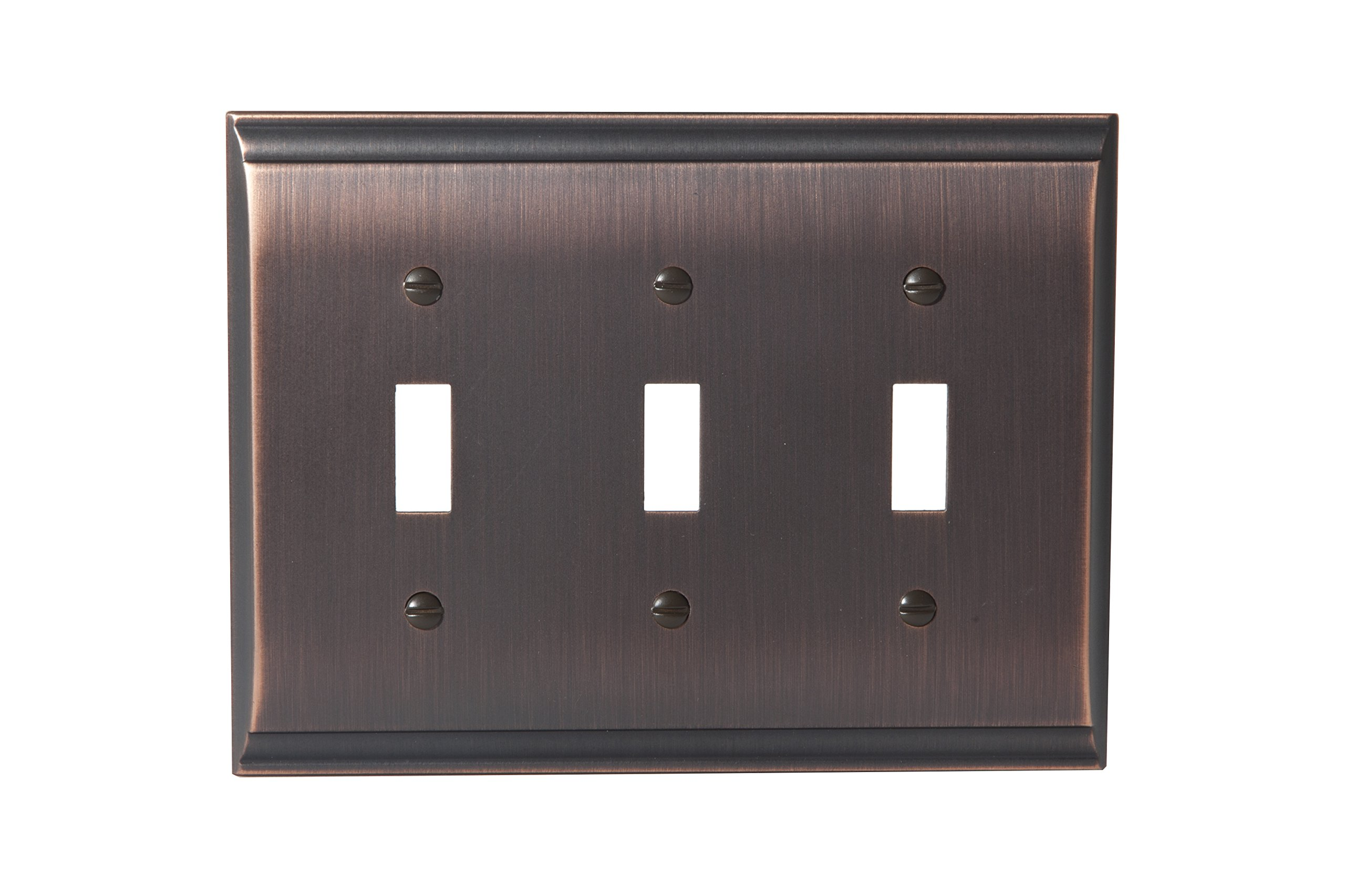Amerock BP36502ORB Candler 3 Toggle Wall Plate - Oil-Rubbed Bronze