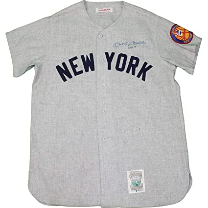 brand new 36aa0 6b20d Mickey Mantle Signed New York Yankees Road Gray Jersey w/
