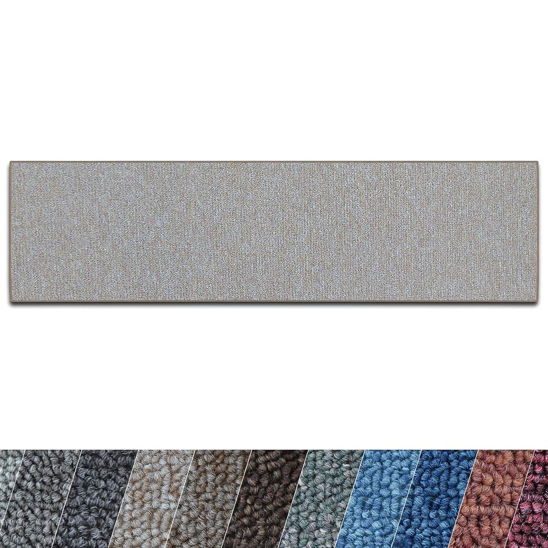 Casa pura Teppich Läufer London   Meterware   Teppichläufer für Wohnzimmer, Flur, Küche usw.   Flacher Schlingenflor   mit Stufenmatten kombinierbar (Beige - 100x800 cm) B07CHB3KG2 Lufer