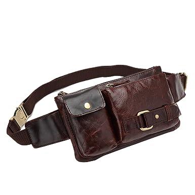 082e24398f Amazon.com | BISON DENIM Leather Waist Pack Fanny Pack Men's Hip Purse  Travel Hiking Bum Bag Belt Bag | Waist Packs
