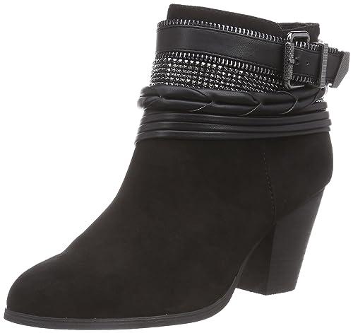 3a3a634292f La Strada Schwarze Suède Look Stiefeletten - Botas de Material sintético  Mujer: Amazon.es: Zapatos y complementos