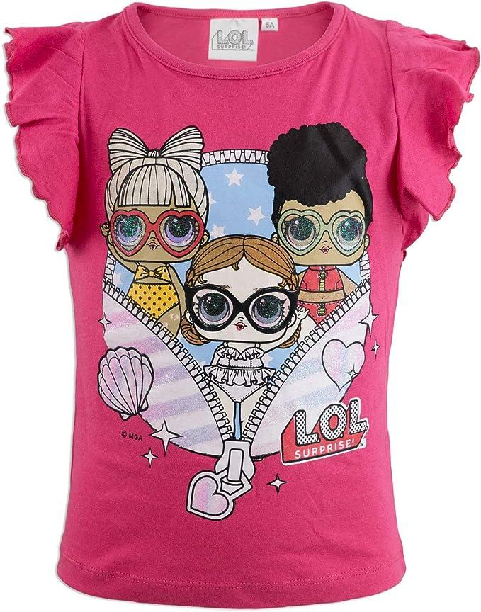 Full Print L.O.L T-Shirt Maglia Maglietta a Maniche Corte Bambina novit/à Prodotto Originale con Licenza Ufficiale SE629X Surprise!