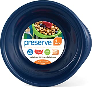 product image for Preserve Everyday BPA Free Bowls Made from Recycled Plastic in the USA, Set of 6, Midnight Blue