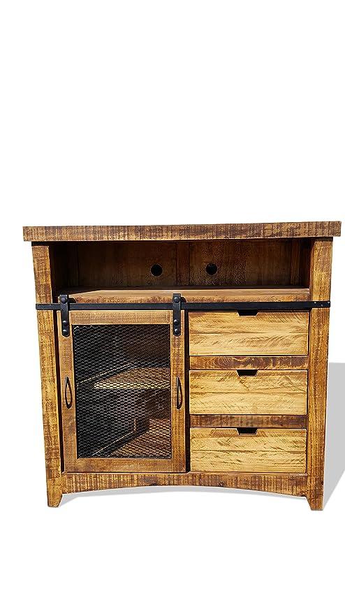 Rustic Furniture Delivered 50 Pulgadas Estilo Puerta ...