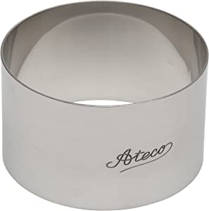 Ateco Food Cutter, 1.75 x 3 Inch, Silver