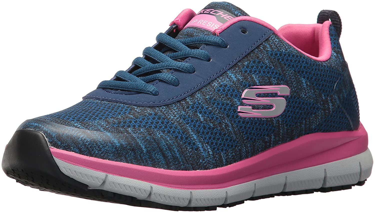 Navy Pink Skechers for Work Women's Comfort Flex HC Pro SR Health Care and Food Service shoes