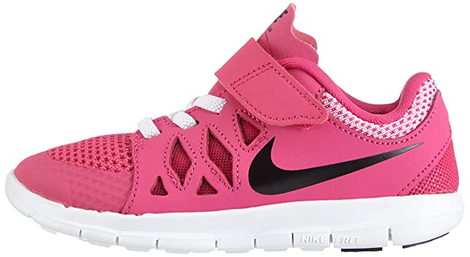 online store 74bd8 f887a Nike Free 5.0 (psv), Running Entrainement Fille, Rose (Hot Pink Black-White),  27.5  Amazon.fr  Chaussures et Sacs