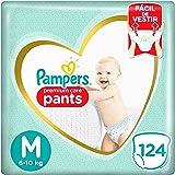 Fralda Pampers Pants Premium Care M 124 unidades, Pampers