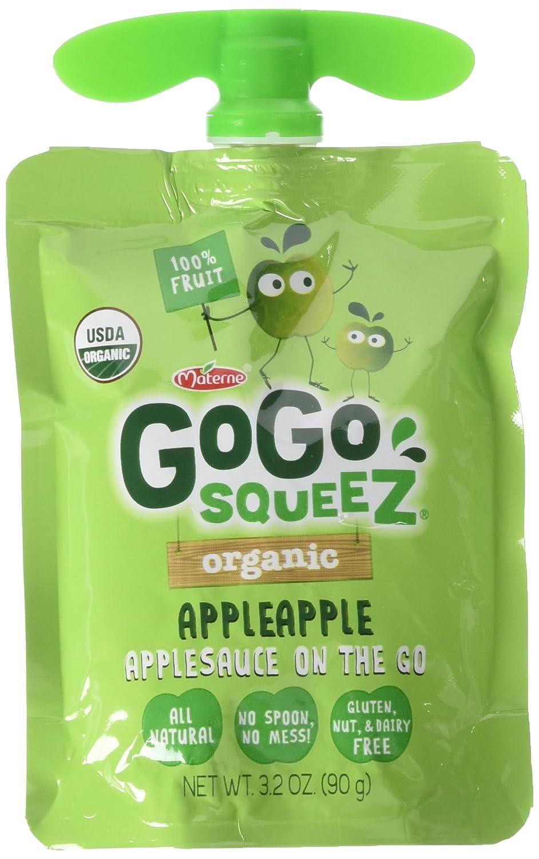 GoGo Squeez orgánico applesauce (3,2 oz bolsas, 20 ct ...
