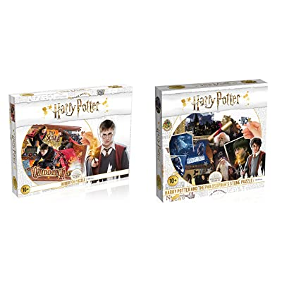 Harry Potter Quidditch and Philosopher's Stone Jigsaw Puzzles Bundle of 2: Toys & Games