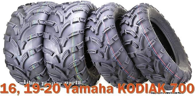 2 Tire Wheel Rim Kit Rear Yamaha Kodiak 450 4X4 25X10-12 ATV 6 PLY NEW