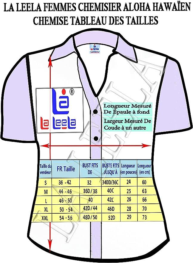 LA LEELA Etnica 100/% Cotone 3 delle Donne Leggeri in 1 Aloha Tasto Caraibi Loungewear Aloha Vestito Top Camicetta Ufficio in Fondo Camicia Hawaiana Blu