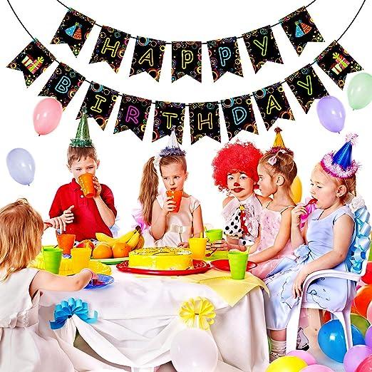 Blulu Pancarta de Fiesta de cumpleaños Brillante ...