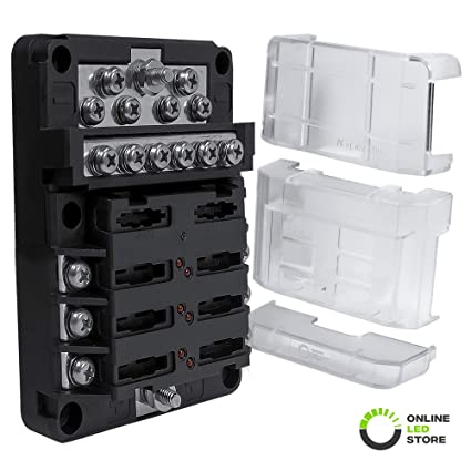 Terrific Amazon Com 6 Way Power 12 Way Ground 100A Modular Fuse Box Wiring 101 Tzicihahutechinfo