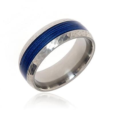 Custom Mens Wedding Bands.Fishing Rings Mens Wedding Bands Custom Outdoor Jewelry Titanium