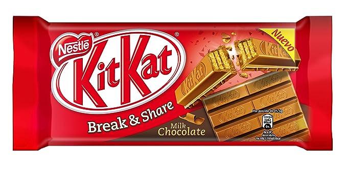 Kit Kat - Galleta Recubierta de Chocolate con Leche - 170 g - [Pack de
