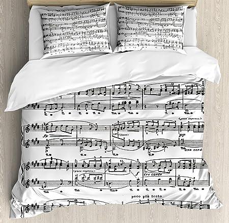 Copripiumino Note Musicali.Spartiti Copripiumino Set Note Musicali Vintage Feel Good Hobby