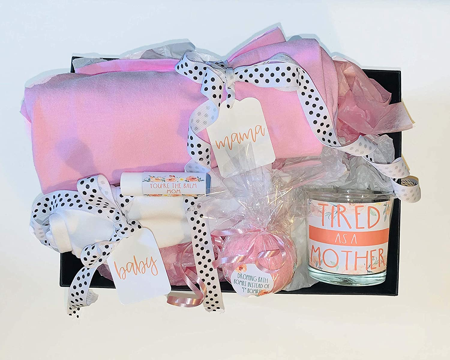 New Mom Gift Expectant Mother Gift Set Mothers Day Gift Baby Shower Present Baby Gift Basket Mom And Baby Shirts First Time Mama Amazon Ca Handmade