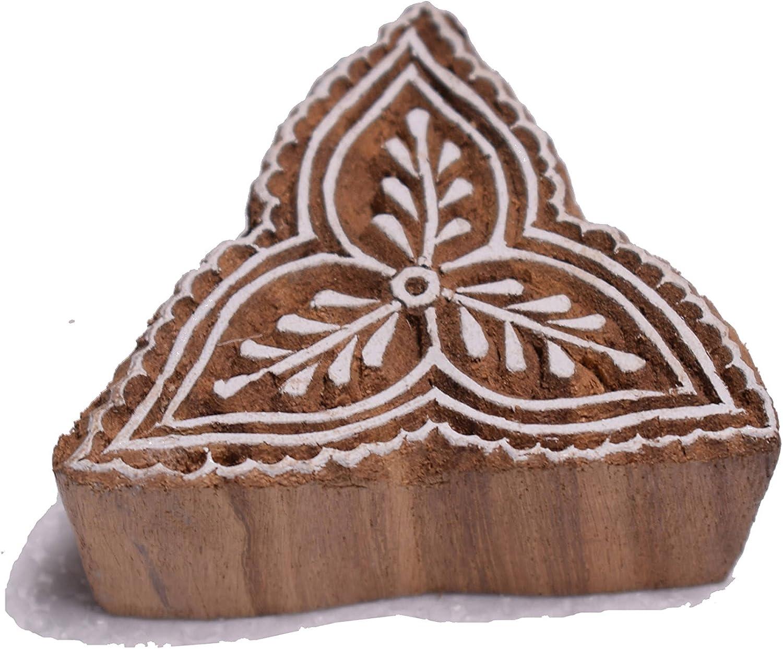 Hashcart Hand-Carved Wooden Baren//Motif Printing Block for Artistic Design On Saree Border//Painting
