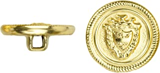 product image for C&C Metal Products 5027 Shield with Ribbed Edge Metal Button, Size 30 Ligne, Gold, 36-Pack