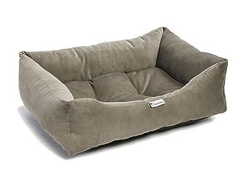 Cama para perro tipo sofá, cómoda, duradera y lavable, disponible en varios colores