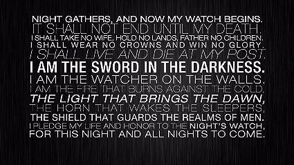 Nights reloj juramento posavasos de juego de tronos llavero ...