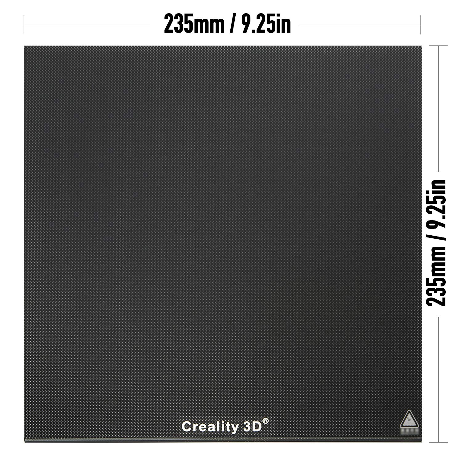 Creality Upgraded 3D Printer Platform Glass Plate Panel 235X235MM Heated Bed Glass Print Bed Build Surface with Microporous Coating for Ender-3// Ender-3 Pro//Ender-3S//Ender-3X