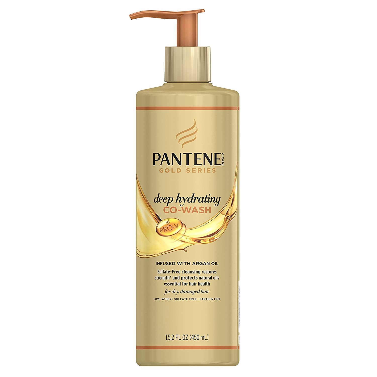 Pantene, Co Wash, Deep Hydrating, Pro-V Gold Series, for Natural and Curly Textured Hair, 15.2 fl oz