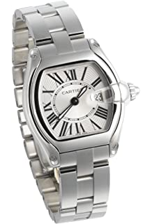 Cartier Womens W62016V3 Roadster Stainless Steel Watch