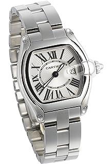 Cartier Womens W62016V3 Roadster Stainless Steel Watch