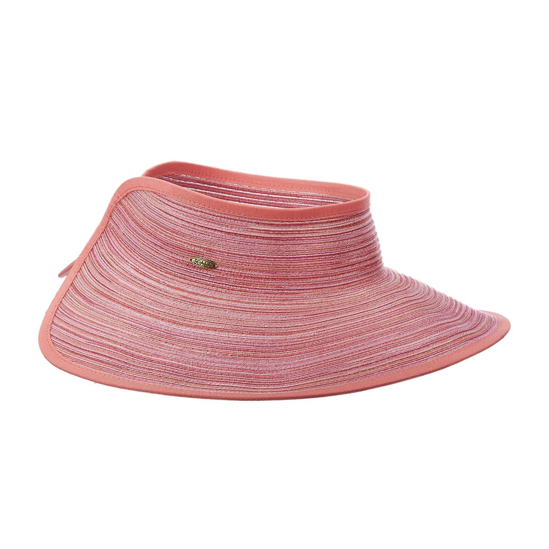 SCALA Poly Braid Roll Sun Big Brim Visor Hat (Fuchsia) at Amazon Women s  Clothing store  d0c4caab24f
