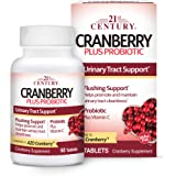 21st Century Cranberry Plus Probiotic Tablets, 60 Count