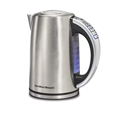 Hamilton Beach 41020 Electric Kettle, 1.7 L, Stainless Steel