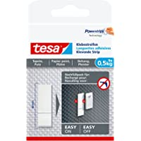 tesa Adhesive Strips for Wallpaper & Plaster 0.5 kg, wit