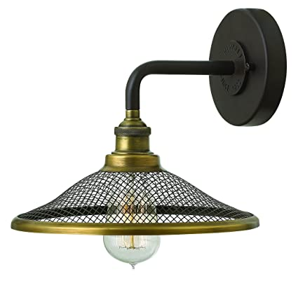 brand new d9223 48246 Hinkley 4360KZ Americana One Light Wall Sconce from Rigby collection in  Two-Tonefinish,