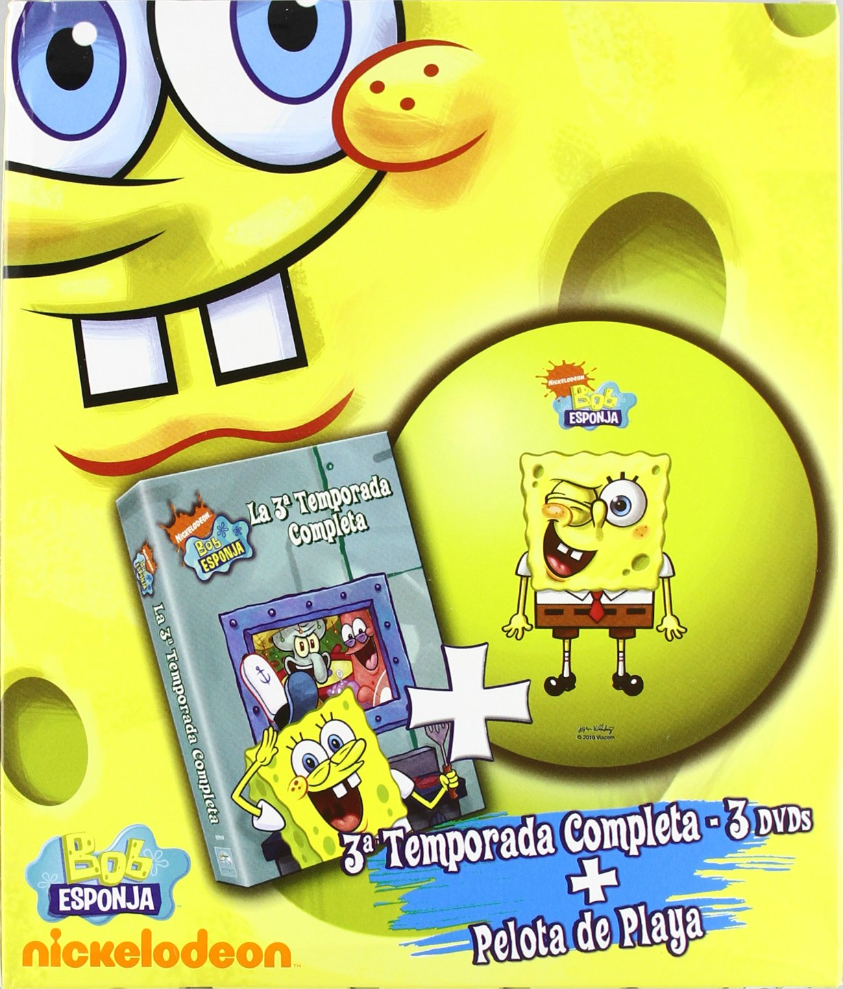 Bob Esponja (3ª Temporada) + Pelota de Playa [DVD]: Amazon.es ...