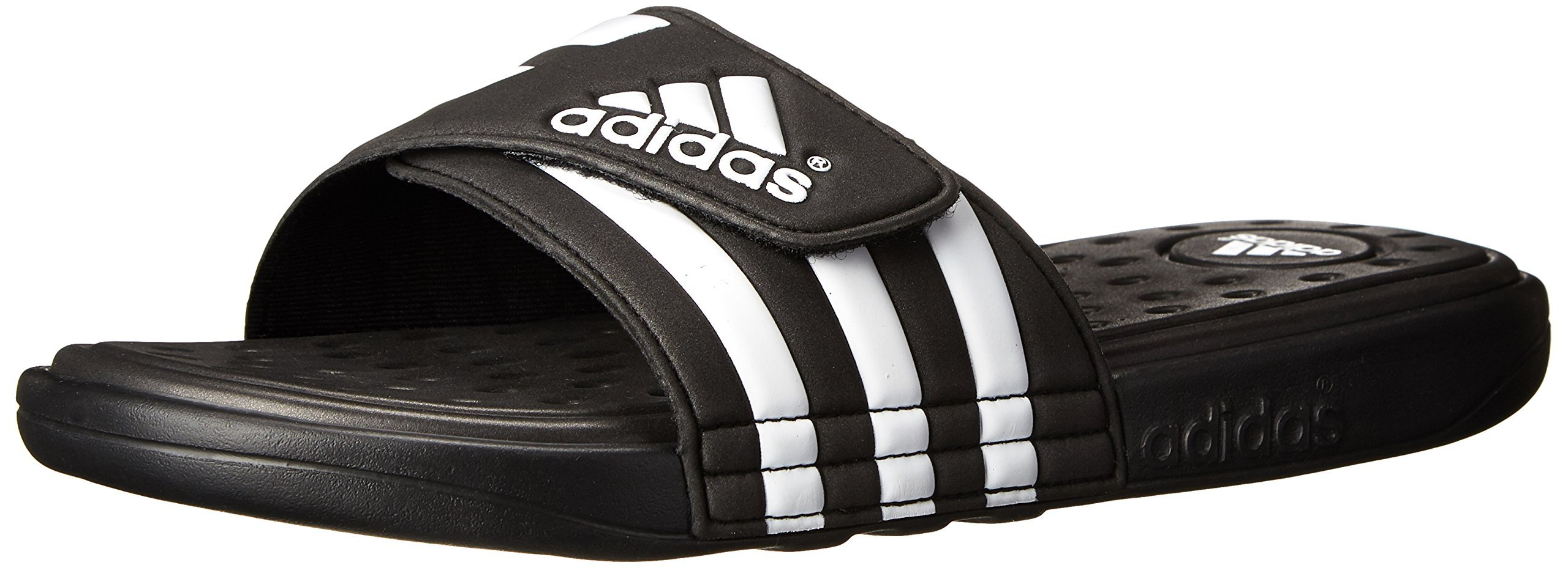 adidas Performance Men's adissage SC Sandal,Black/White/Black,10 M US