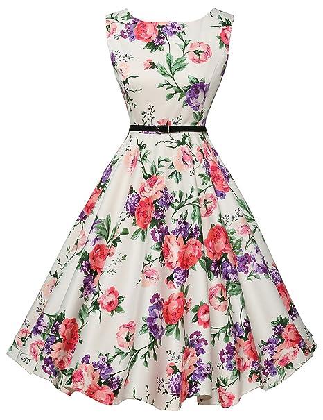 Vestido de la Vendimia Oscilación Estilo de los Años 20 Vintage Swing Vestido para la Señora