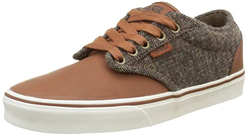 b3b3729d8e Vans Men s Brown Atwood Deluxe Lace-Up Sneakers-UK 5.5  Buy Online ...