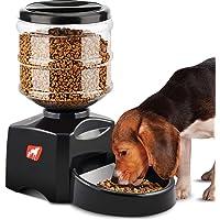 Distributeur d'aliments pour animaux Cat, Distributeur automatique d'aliments pour chats et chiens, Alimentation automatique Programmable avec minuterie / écran LCD / fonction d'enregistrement sonore, 5,5 L