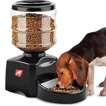 Magicpeony Alimentador Automático de Mascotas, 5,5 litros Dispensador Alimentador de Mascotas para Perros