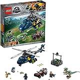 LEGO Jurassic World - Persecución en Helicóptero de Blue, Juguete para Niñas y Niños de 7 a 12 Años de la Película El…