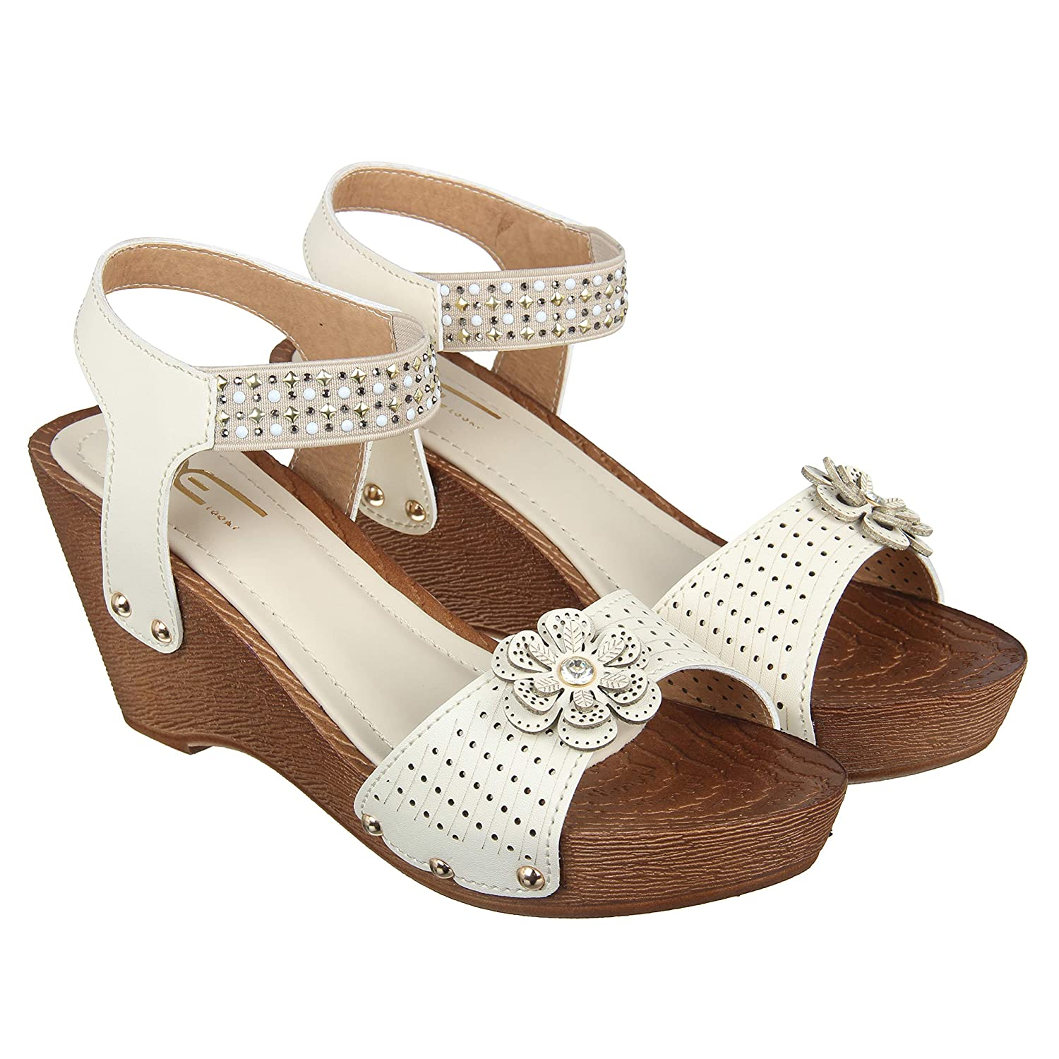 a44c0f78232 XE Looks Stylish Platform Heel Wedges Sandals for Women  Buy Online at Low  Prices in India - Amazon.in