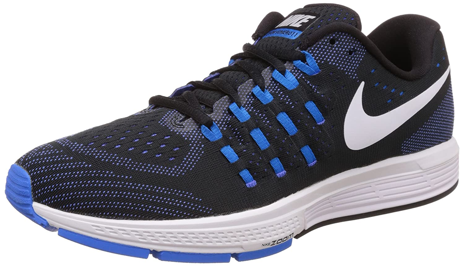 Nike Men's Air Zoom Vomero 11 Running Shoes B01GE1KU4O 9 D(M) US|Black/White/Photo Blue/Racer Blue