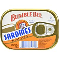 Bumble Bee Sardines In Hot Sauce, 3.75 Ounce Cans