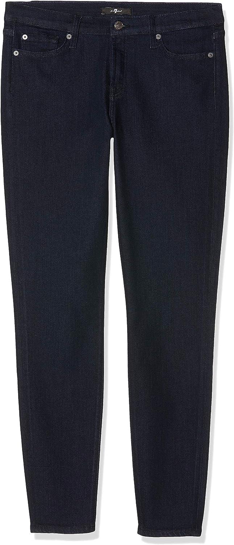 7 For All Mankind Damen The Skinny Jeans Blau (Dark Blue Rr)