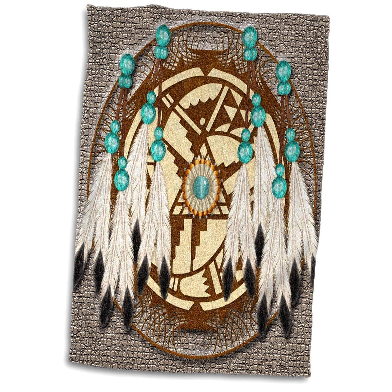 15 x 22 3dRose twl/_108094/_1 3D Rose Designer One of A Kind Native American Art Hand//Sports Towel